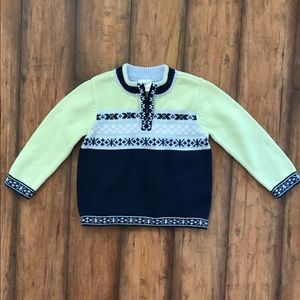 Hanna Andersson Sweater Nordic Style 1/4 Zip